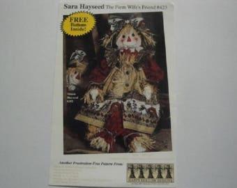 "Happy Hollow Designs Pattern #423-""Sara Hayseed, the Farm Wife's Friend"""