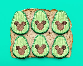 Patch, Avocado, mickey mouse, disney, colorful