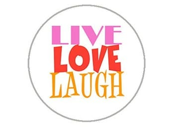 "Live Love Laugh Envelope Seals - 1.2"" Stickers - 144 Fun Stickers - 25134"