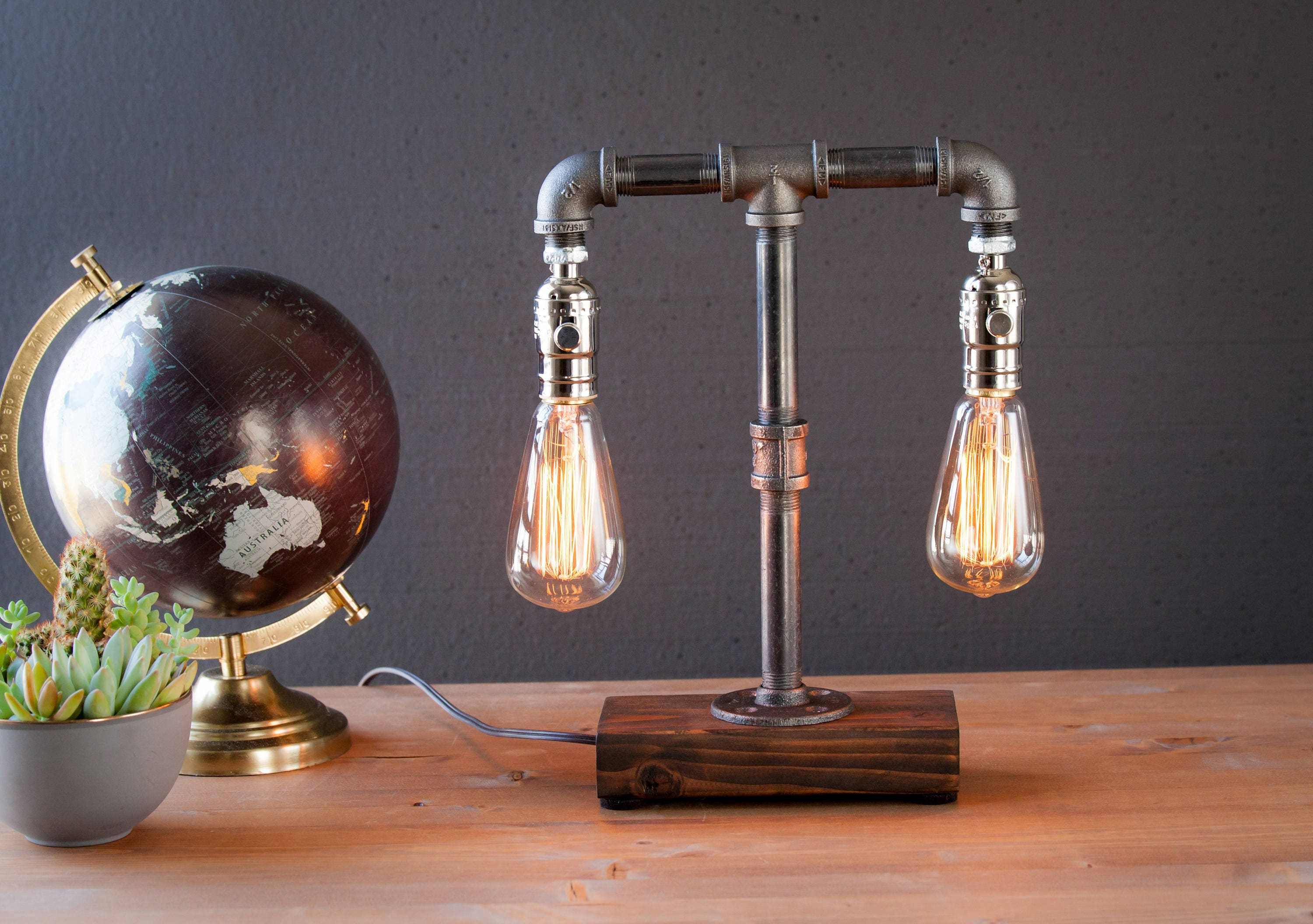 Edison Lamp Rustic Decor Unique Table Lamp Industrial