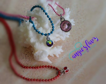 Ball Chain Necklaces, Gemstones