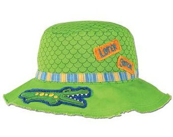 Personalized Monogrammed Bucket Hat for Children Later Gator Alligator
