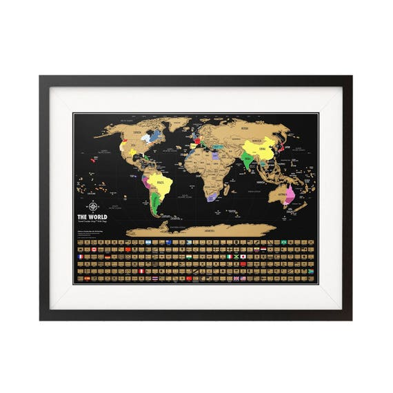 Scratch off map scratch where youve been on the travel like this item sciox Image collections