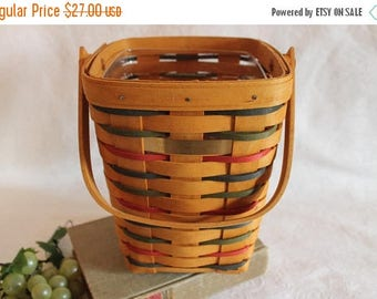 Christmas in July Longaberger Woven Traditions Large Peg Basket - 22/45 Signed for Morgan County, Ohio Civil War Encampment Days