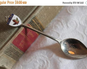 SALE Canadian Souvenir Spoon Commemorating a Visit to Crowsnest Pass in Alberta, Canada