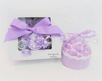 Baby Girl Gift for Baby Shower, Cupcake Gift Set, Unique Baby Gift Set, Baby Cupcakes,  New Baby Present, Baby Shower Gift, Unique Baby Gift