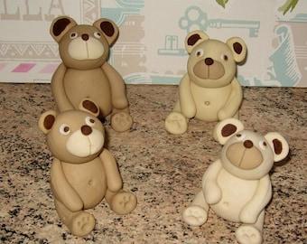 4 edible teddy bears