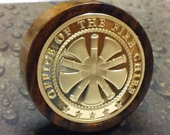 Fire Chief wine stopper Bocote wood