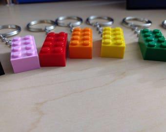 2x4 LEGO brick keychain