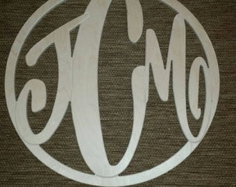 Unfinished Circle Custom Monogram