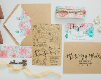 Soft Botanicals Sample Invitation Suite