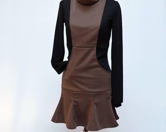 Long sleeves Street chic mini dress