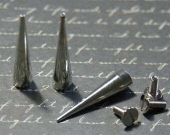 3 sets of grommets 7x30mm silver long spikes