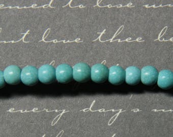 20 mini 4mm turquoise stone beads