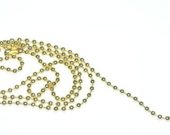 Golden clasp 45cm with 2mm ball chain