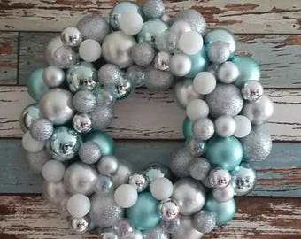 Christmas Bauble Wreath, baubles, Christmas, Christmas wreath, Christmas decorations, bauble wreath, home decor, Christmas baubles