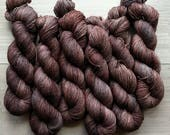 Cocoa Nibs -hand-dyed 1-ply superwash merino fingering