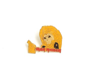 Iron Maiden, Heavy rock, trash rock, metal lapel pin, metal enamel pin, collectible lapel pin