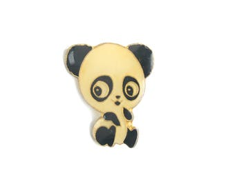 Panda, panda pin, lapel pin, enamel pin, bear, bear pin, kawaii, pin badge, cute pins, animals pins