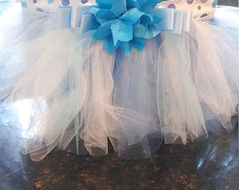 blue summer tutu tote bag