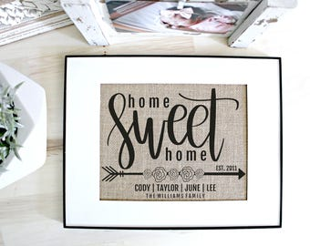 Family established sign, home sweet home, custom name sign, personalized name sign, established sign, housewarming gift, family name sign