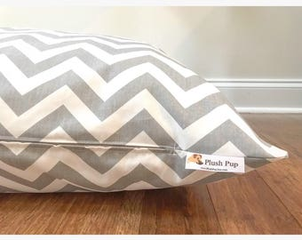 Chevron Dog Bed Cover, Gray Dog Bed Cover, Gray Chevron Dog Bed Cover, Zig Zag Dog bed cover, Dog Bed Cover, Dog Bed,  Gray Dog Bed
