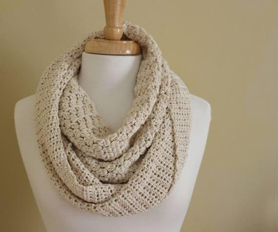 Crochet Pattern Crochet Infinity Scarf Pattern Easy