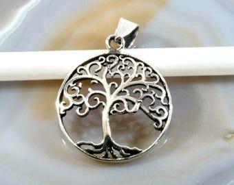 Tree of life, silver pendant  -- 4478