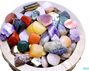 Large Tumbled stones-1lb - 2lb - Natural Precious Gemstone-Large Assorted Gemstones - Healing mix Reiki stone - Crafting Stone - Chakra mix