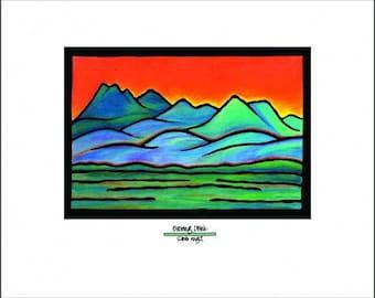 "Blue Mountains - 8""x10"" Unframed Giclee Print"