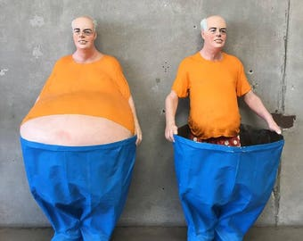 Pair of Ripley's Believe It or Not Fat Guys ( C23PZA)