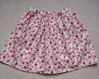 girl skirt small pink flowers