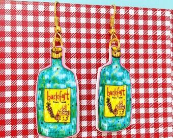 Buckfast Bottle Illustrated Earrings