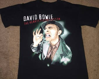 David Bowie tee T Shirt The Hearts Filthy Lesson Concert Tour official original black outside Size L Large vintage made in the US 1995 RARE!