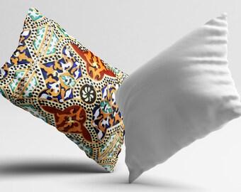 Morocco PillowCase Portugal Throw Pillow Cover Sofa Brown Pillow Geometry Decorative Silk Pillow Cover Cushion Satin Pillow Toss Home Decor
