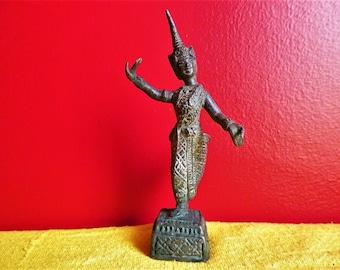 Thai bronze aspara dancer statuette from the 1950s