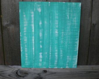 Turquoise Painted Pallet Wood Canvas, Blank Pallet sign, DIY Wood Sign, Crafting, String Art, DIY sign canvas, Distressed Wood Canvas