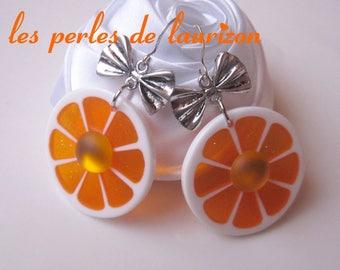 orange lemon earrings