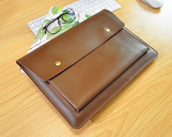 Leather Laptop Sleeve, Macbook Pro Sleeve Case,Macbok Air 13 Sleeve,Macbook 12inch Sleeve,Surface Pro 4 Sleeve,13inch Laptop Sleeve-113