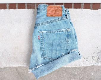 Vintage 501s Levi's denim cut-off shorts