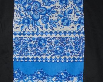 BLUE WILLOW, Cotton Kitchen Tea Towel, Blue White, Chinoiserie Decor, Gift for her, hostess gifts