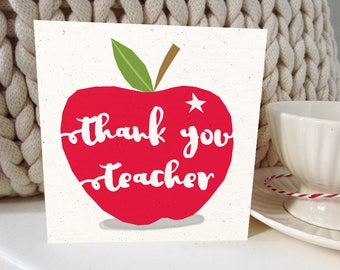 Thank You Teacher greetings card