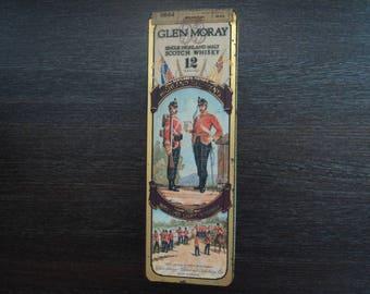 Glen Moray Whisky empty tin with History of the Highland Light Infantry