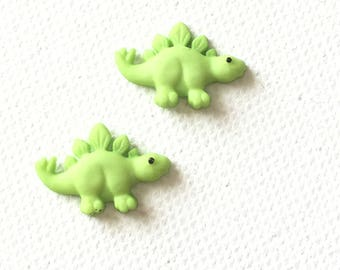 Green Dinosaur Earrings, Green Stegosaurus Earring, Green Dinosaur Stud Earrings, Stegasaurus Earrings, Tiny Dinosaur Earrings, Dino Earring