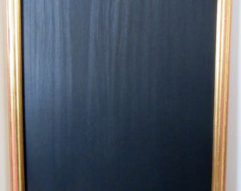 Large Gold / Red Distressed 'Shabby Chic' Effect Framed Chalkboard / Blackboard / Wedding / Cafe Bar Menu