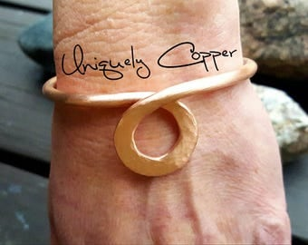 Copper Cuff Bracelet, Copper Bracelet, Hammered Copper Cuff, Copper Cuff, 7th Anniversary, Copper Anniversary, Gift For Wife, Copper Jewelry