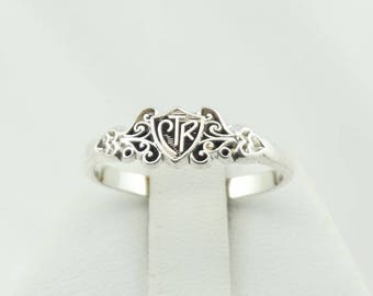 Unique Vintage Decorative Swirls Sterling Silver CTR Ring Size 8 3/4 FREE SHIPPING! #SWIRLS2-L2