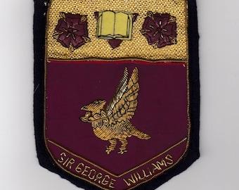 1950s - '70s era Sir George Williams University Blazer Crest — Free Shipping US & Canada!