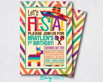 Fiesta Birthday Invitation / Fiesta Birthday Invitation / Fiesta Party / 1st Birthday Fiesta / Birthday Fiesta Printable