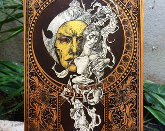 Art Nouveau Print on Wood, Art Nouveau Poster, Home Decor Art Nouveau, Limited Edition Art Laser Engraved, Collaboration Rotten Fantom Art